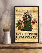 Easily Distracted By Dogs And Garden 11x17 Poster lifestyle-poster-3