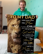 """To My Dad Small Fleece Blanket - 30"""" x 40"""" aos-coral-fleece-blanket-30x40-lifestyle-front-09"""