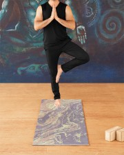 Yoga Marble Yoga Mat 24x70 (vertical) aos-yoga-mat-lifestyle-03