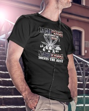 Camping-Smoking Flag Classic T-Shirt lifestyle-mens-crewneck-front-5