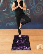420 Purple Leaf Yoga Mat 24x70 (vertical) aos-yoga-mat-lifestyle-03