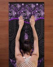 420 Purple Leaf Yoga Mat 24x70 (vertical) aos-yoga-mat-lifestyle-23