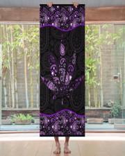 420 Purple Leaf Yoga Mat 24x70 (vertical) aos-yoga-mat-lifestyle-27