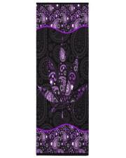 420 Purple Leaf Yoga Mat 24x70 (vertical) front