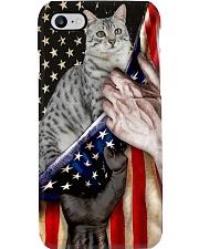 Love European Shorthair Cat United State Flag Phone Case i-phone-8-case