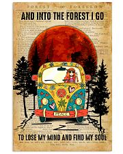 Hippie Girl Love Camping And Into The Forest I Go 11x17 Poster front