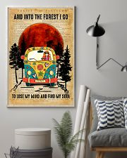 Hippie Girl Love Camping And Into The Forest I Go 11x17 Poster lifestyle-poster-1