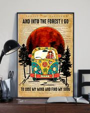 Hippie Girl Love Camping And Into The Forest I Go 11x17 Poster lifestyle-poster-2