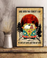 Hippie Girl Love Camping And Into The Forest I Go 11x17 Poster lifestyle-poster-3
