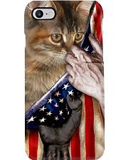 Love Manx Cat United State Flag Phone Case i-phone-8-case