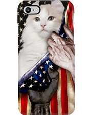 Love American Curl Cat United State Flag Phone Case i-phone-8-case