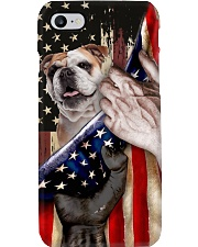 Love Bulldog United State Flag Phone Case i-phone-8-case