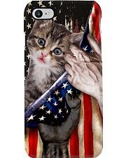 Love Munchkin Cat United State Flag Phone Case i-phone-8-case