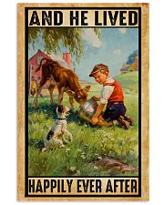 Farmer Boy Love Dogs And Dairy Cattle 11x17 Poster front