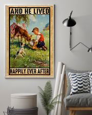 Farmer Boy Love Dogs And Dairy Cattle 11x17 Poster lifestyle-poster-1
