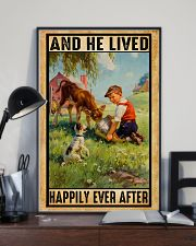 Farmer Boy Love Dogs And Dairy Cattle 11x17 Poster lifestyle-poster-2