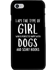 Dogs and Scary Books Girl Phone Case thumbnail