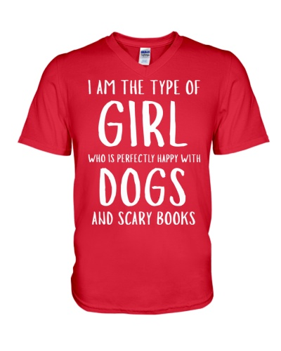 Dogs and Scary Books Girl