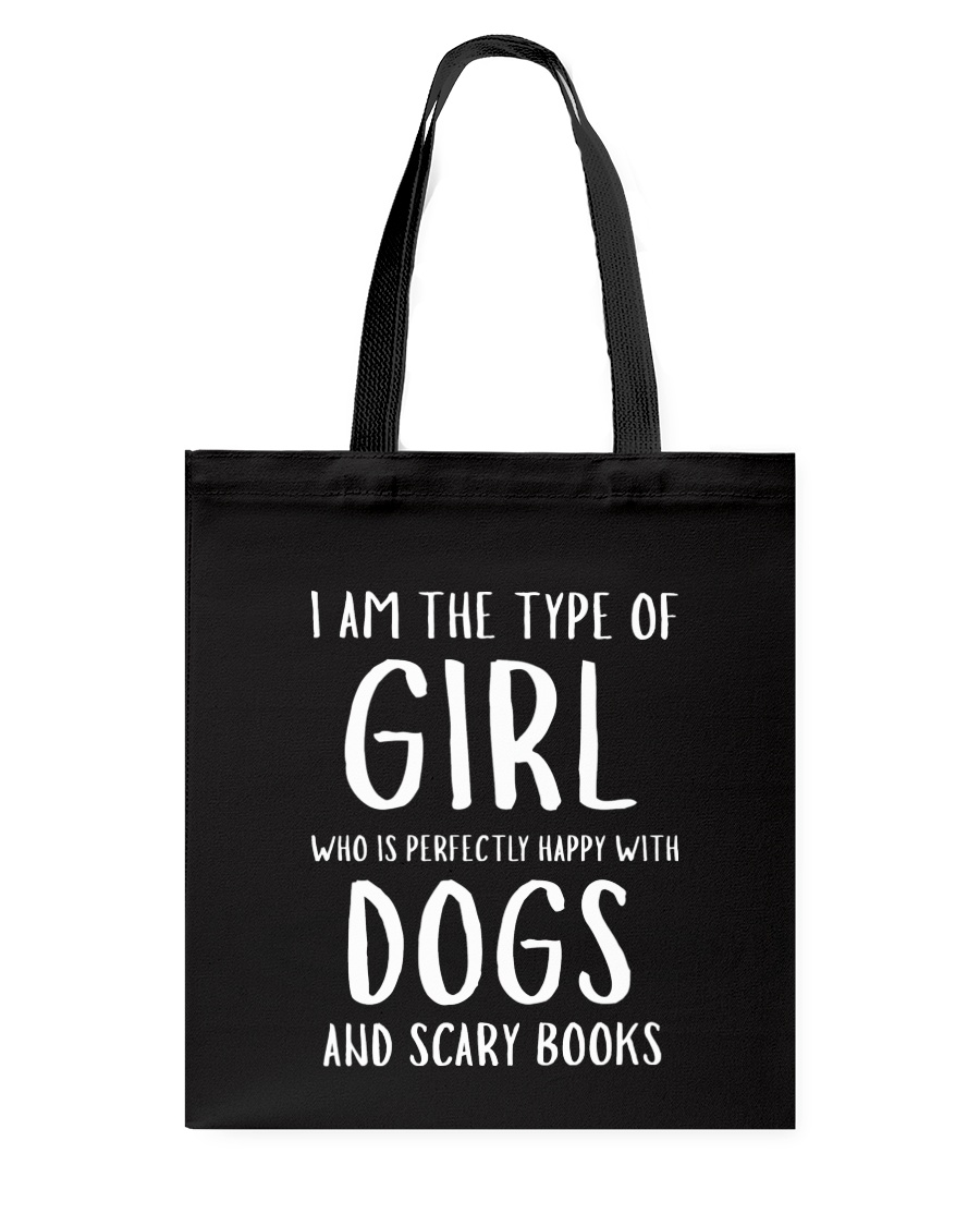 Dogs and Scary Books Girl Tote Bag showcase