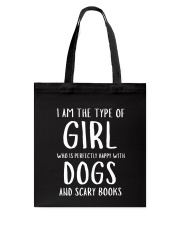 Dogs and Scary Books Girl Tote Bag thumbnail