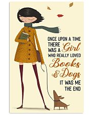 Girl Loves Books And Dogs 11x17 Poster front