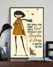 Girl Loves Books And Dogs 11x17 Poster lifestyle-poster-2