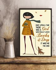 Girl Loves Books And Dogs 11x17 Poster lifestyle-poster-3