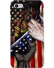 Brave Firefighter United State Flag Phone Case i-phone-8-case