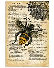 Vintage Dictionary Page Bee 11x17 Poster front