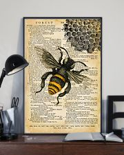 Vintage Dictionary Page Bee 11x17 Poster lifestyle-poster-2