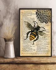 Vintage Dictionary Page Bee 11x17 Poster lifestyle-poster-3