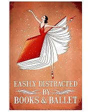 Easily Distracted By Books And Ballet 11x17 Poster front