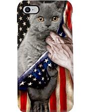 Love Selkirk Rex Cat United State Flag Phone Case i-phone-8-case