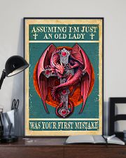 Old Lady Love Red Dragon 11x17 Poster lifestyle-poster-2