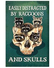 Easily Distracted By Raccoon And Skulls 11x17 Poster front