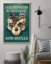 Easily Distracted By Raccoon And Skulls 11x17 Poster lifestyle-poster-1