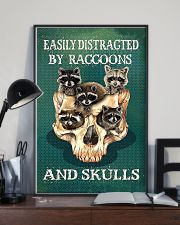 Easily Distracted By Raccoon And Skulls 11x17 Poster lifestyle-poster-2