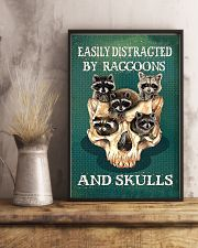 Easily Distracted By Raccoon And Skulls 11x17 Poster lifestyle-poster-3