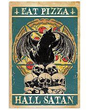 Black Cat Eat Pizza Hail Satan 11x17 Poster front