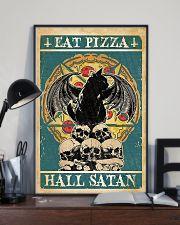 Black Cat Eat Pizza Hail Satan 11x17 Poster lifestyle-poster-2