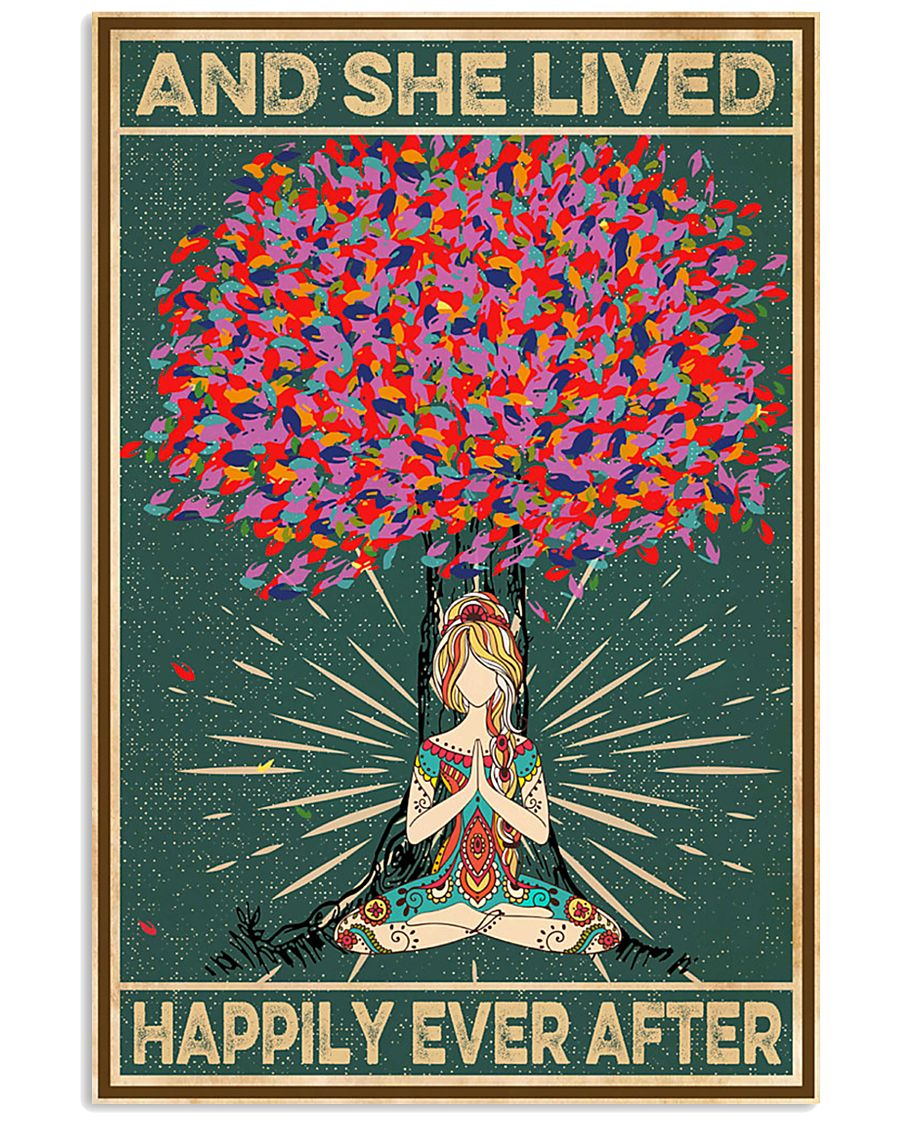 Yoga Meditation And She Lived Happily Ever After 11x17 Poster