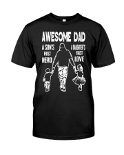 Dad Hero Love Classic T-Shirt front