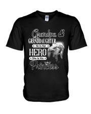 Grandpa And Granddaughter V-Neck T-Shirt thumbnail