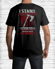 I Stand For My Flag Classic T-Shirt lifestyle-mens-crewneck-back-1
