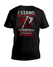 I Stand For My Flag V-Neck T-Shirt thumbnail