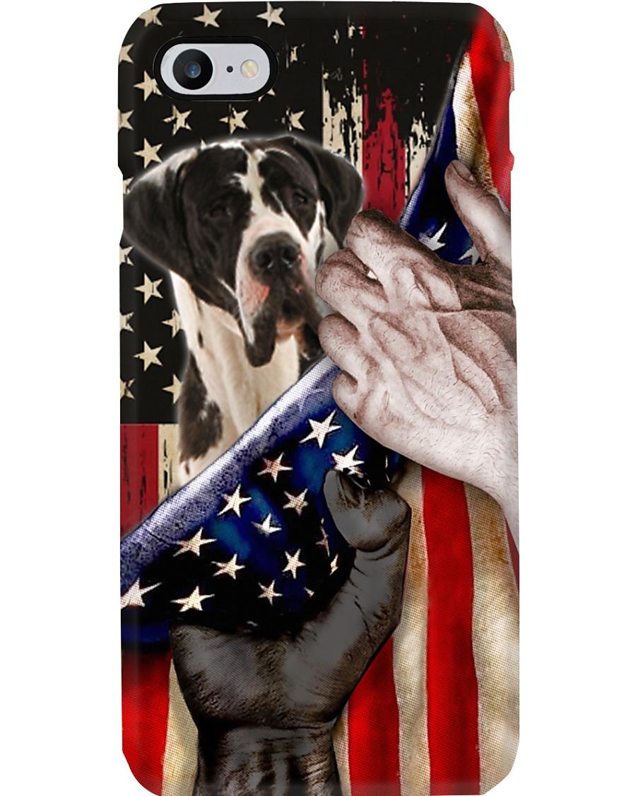 Love Great Dane United State Flag Phone Case