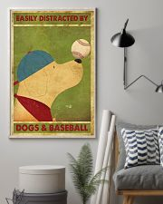 Golden Retriever And Baseball 11x17 Poster lifestyle-poster-1