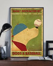 Golden Retriever And Baseball 11x17 Poster lifestyle-poster-2