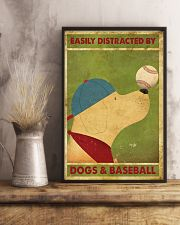 Golden Retriever And Baseball 11x17 Poster lifestyle-poster-3