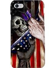 Skull And Butterfly United State Flag Phone Case i-phone-8-case